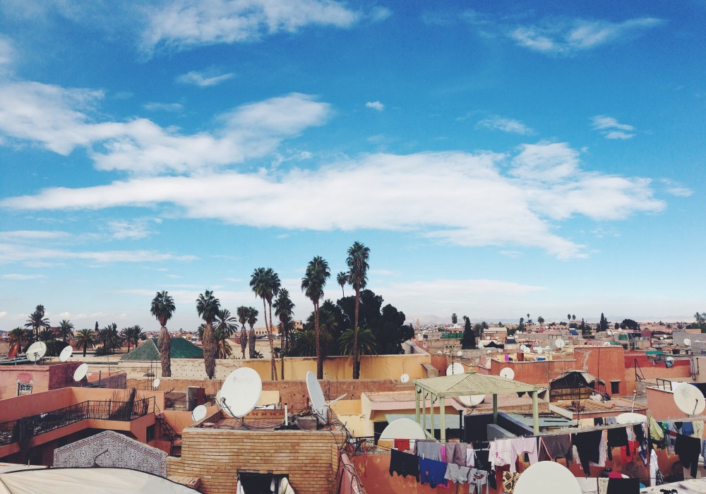 An overview of Marrakech from the roof top in my riad. Looks stunning!!
