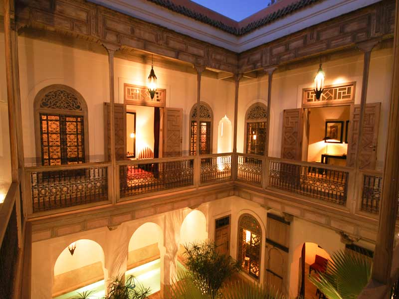 A typical Riad in Morroco. From Google image